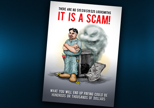 Book Cover It Is a Scam for article on false ads by locksmiths